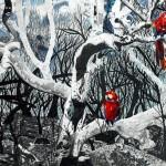Farb- und Bleistiftzeichnung von Katharina, 15 Jahre